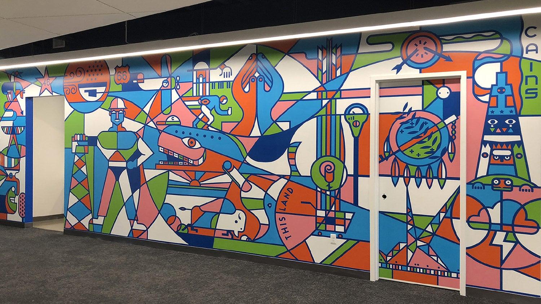 Art Oklahoma Icons Mural - Matt Goad