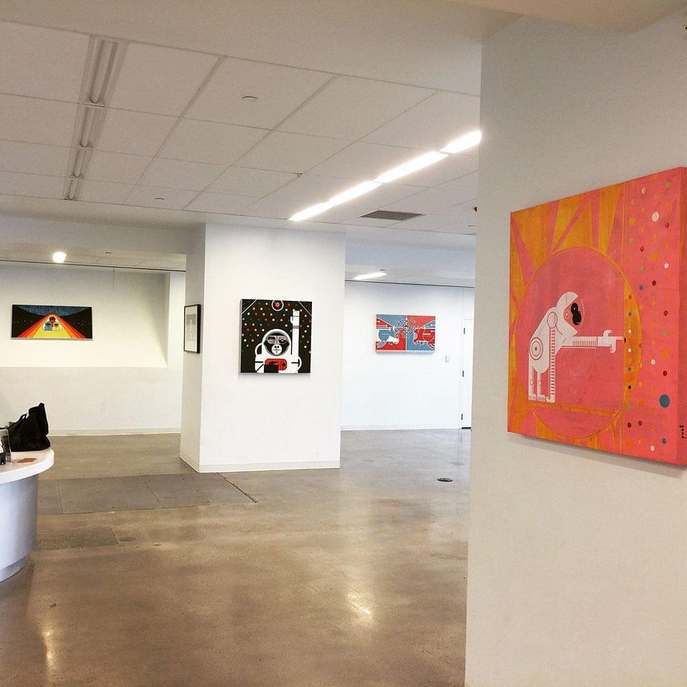 Reentry Blues in gallery by Matt Goad