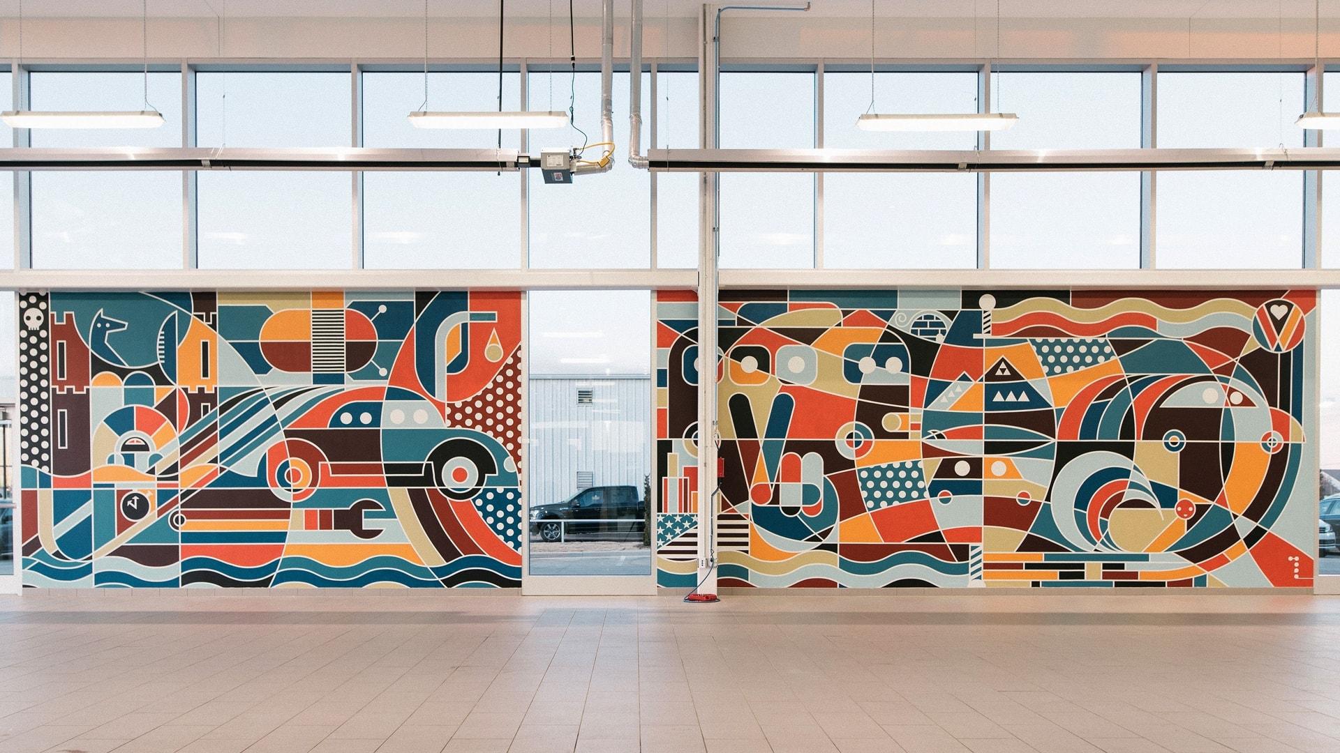 Think Small. Dream Big - Fowler Mural - Mat Goad