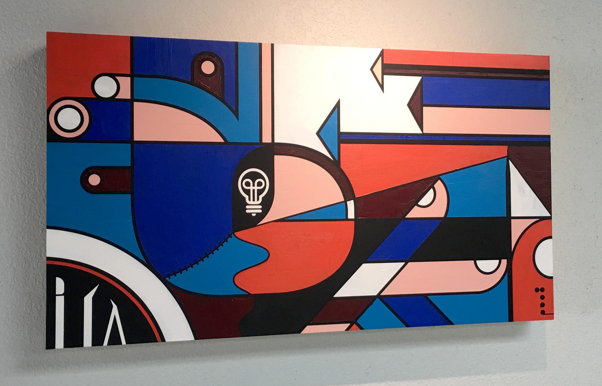 Art Surgeon 30x20 Acrylic on Birch scaled, Matt Goad
