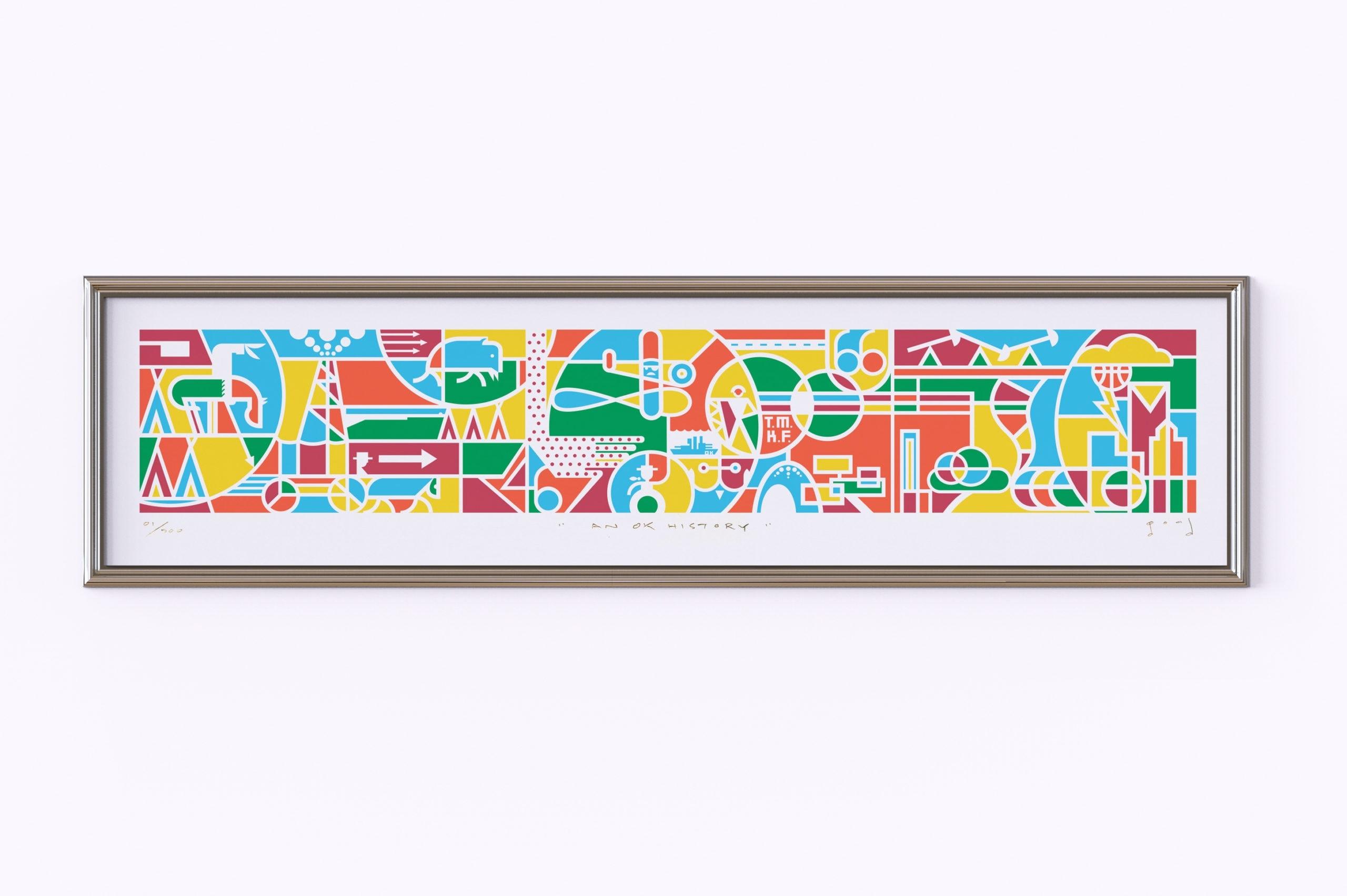 AN OK History Print Framed scaled, Matt Goad